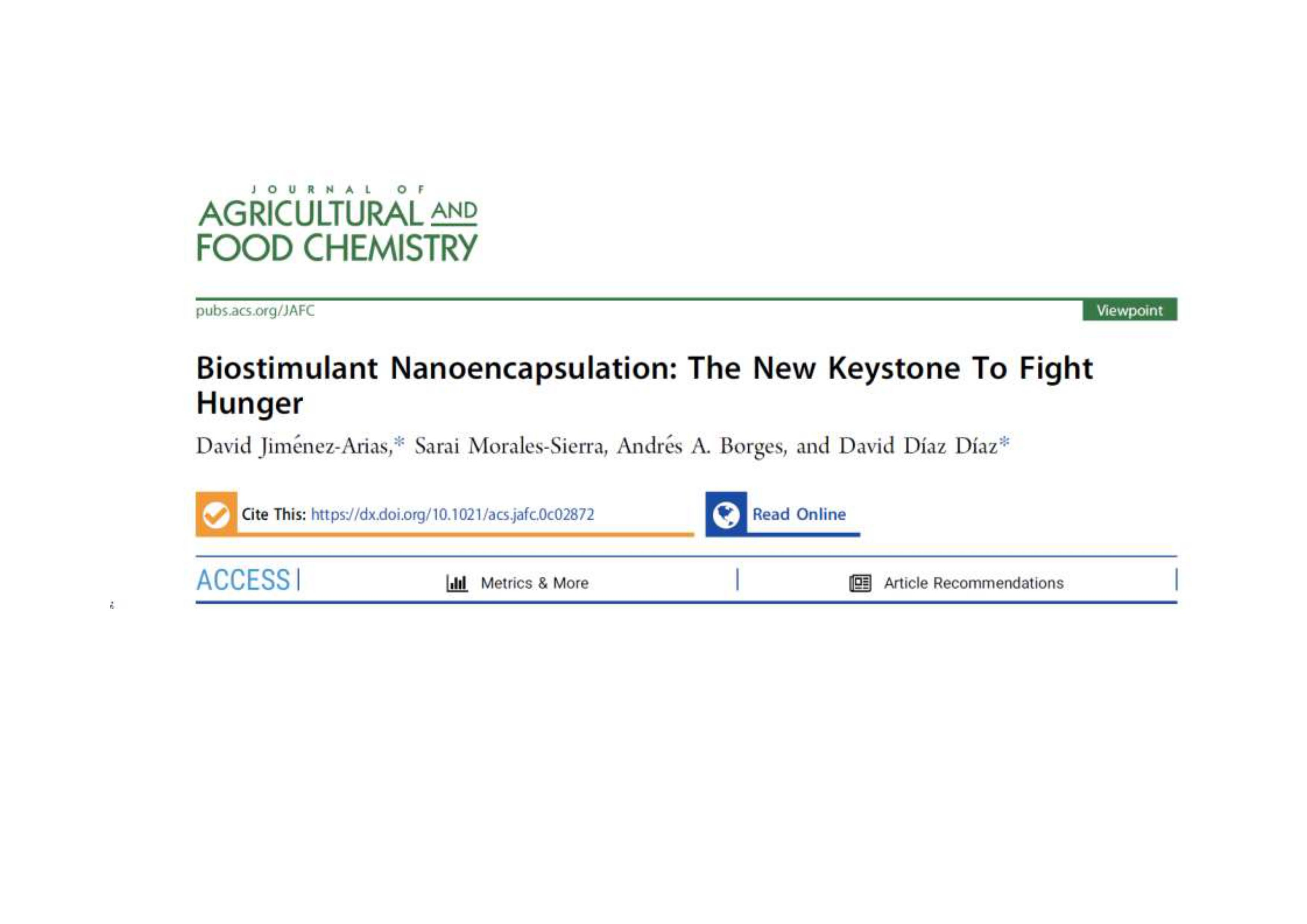 Biostimulant Nanoencapsulation: The New Keystone to Fight Hunger