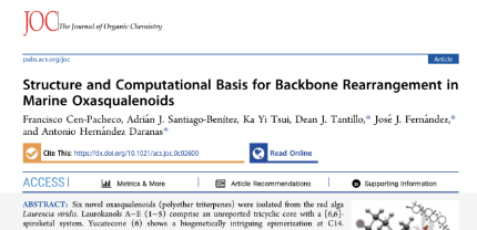 Structure and Computational Basis for Backbone Rearrangement in Marine Oxasqualenoids